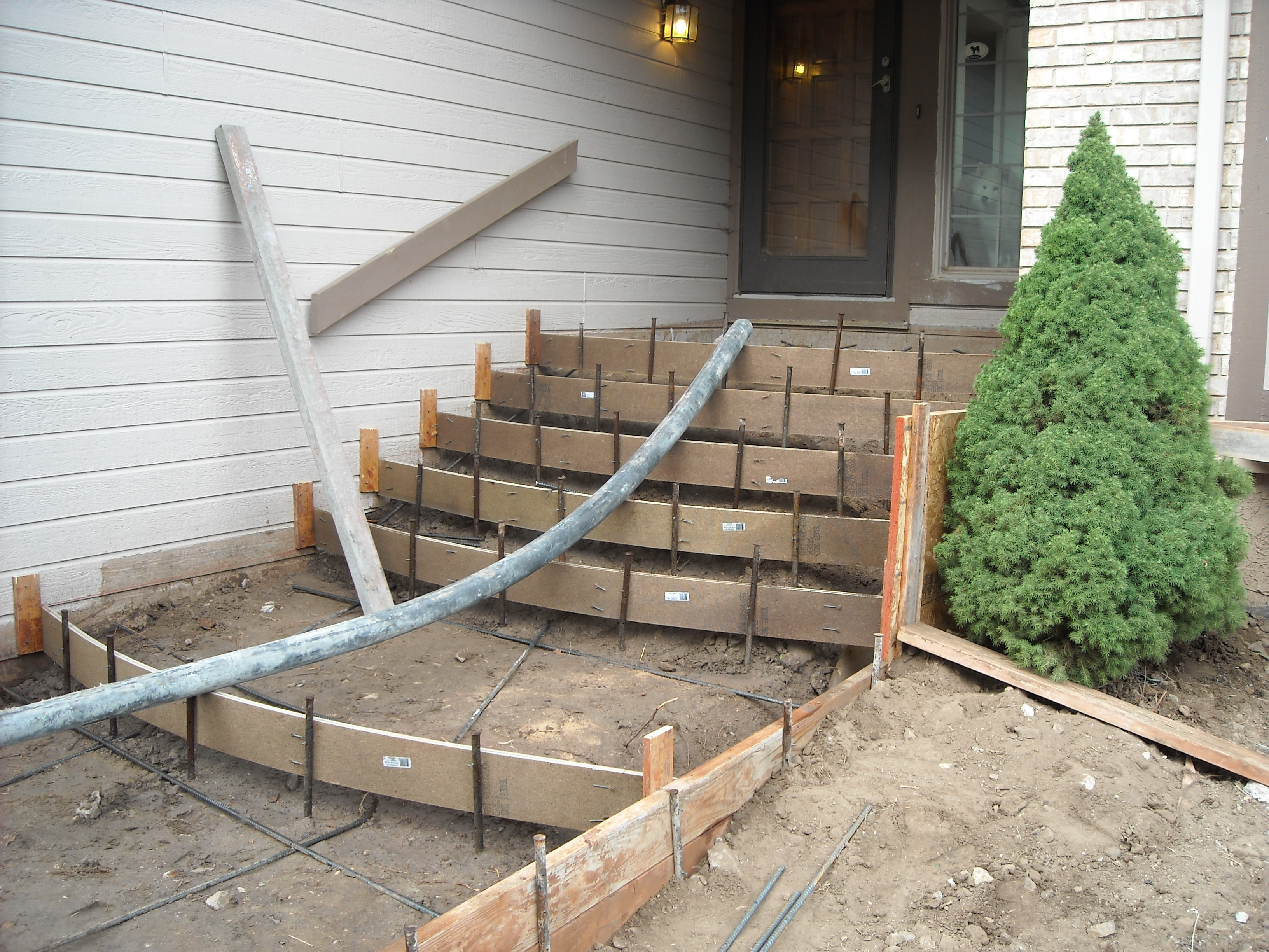 Barcelon construction inc for Cleaning concrete steps